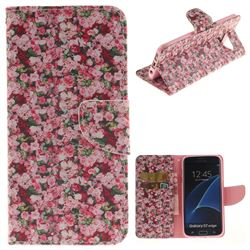 Intensive Floral PU Leather Wallet Case for Samsung Galaxy S7 Edge s7edge