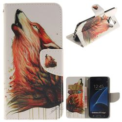 Color Wolf PU Leather Wallet Case for Samsung Galaxy S7 Edge s7edge
