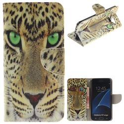 Yellow Tiger PU Leather Wallet Case for Samsung Galaxy S7 Edge s7edge