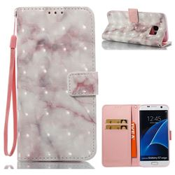 Beige Marble 3D Painted Leather Wallet Case for Samsung Galaxy S7 Edge s7edge