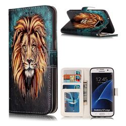 Ice Lion 3D Relief Oil PU Leather Wallet Case for Samsung Galaxy S7 Edge s7edge