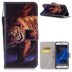 Mighty Tiger PU Leather Wallet Case for Samsung Galaxy S7 Edge s7edge