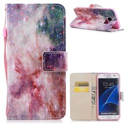 Cosmic Stars PU Leather Wallet Case for Samsung Galaxy S7 Edge s7edge