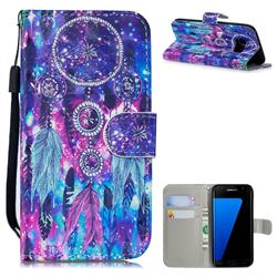 Star Wind Chimes 3D Painted Leather Wallet Phone Case for Samsung Galaxy S7 Edge s7edge