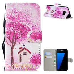 Tree House 3D Painted Leather Wallet Phone Case for Samsung Galaxy S7 Edge s7edge