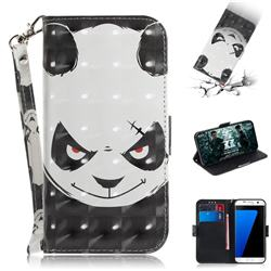 Angry Bear 3D Painted Leather Wallet Phone Case for Samsung Galaxy S7 Edge s7edge