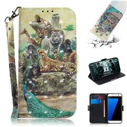 Beast Zoo 3D Painted Leather Wallet Phone Case for Samsung Galaxy S7 Edge s7edge