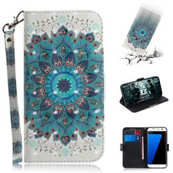 Peacock Mandala 3D Painted Leather Wallet Phone Case for Samsung Galaxy S7 Edge s7edge