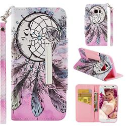 Angel Monternet Big Metal Buckle PU Leather Wallet Phone Case for Samsung Galaxy S7 Edge s7edge