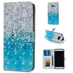 Sea Sand 3D Painted Leather Phone Wallet Case for Samsung Galaxy S7 Edge s7edge