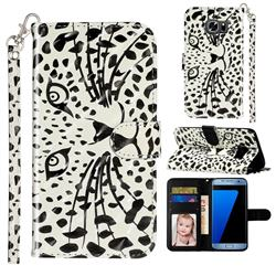 Leopard Panther 3D Leather Phone Holster Wallet Case for Samsung Galaxy S7 Edge s7edge