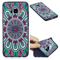Mandala 3D Embossed Relief Black Soft Back Cover for Samsung Galaxy S8