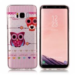 Owls Flower Super Clear Soft TPU Back Cover for Samsung Galaxy S8
