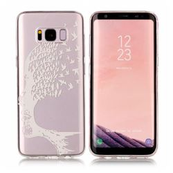 Bird Skull Face Super Clear Soft TPU Back Cover for Samsung Galaxy S8