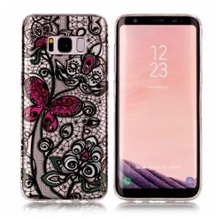 Butterfly Flowers Super Clear Soft TPU Back Cover for Samsung Galaxy S8