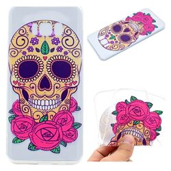Skeleton Flower Super Clear Soft TPU Back Cover for Samsung Galaxy S8