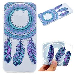 Blue Feather Campanula Super Clear Soft TPU Back Cover for Samsung Galaxy S8