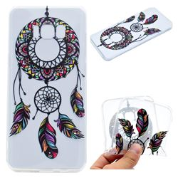 Feather Black Wind Chimes Super Clear Soft TPU Back Cover for Samsung Galaxy S8