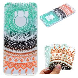 Tribe Flower Super Clear Soft TPU Back Cover for Samsung Galaxy S8