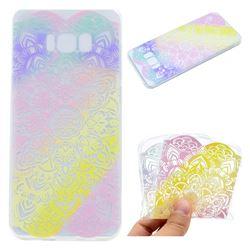 Mandala Rainbow Flower Super Clear Soft TPU Back Cover for Samsung Galaxy S8