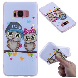 Couple Owls 3D Relief Matte Soft TPU Back Cover for Samsung Galaxy S8