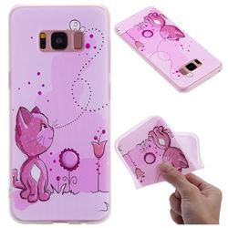 Cat and Bee 3D Relief Matte Soft TPU Back Cover for Samsung Galaxy S8