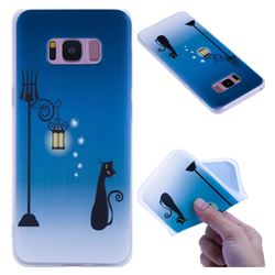 Street Light Cat 3D Relief Matte Soft TPU Back Cover for Samsung Galaxy S8