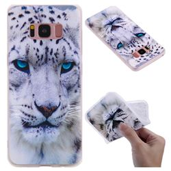 White Leopard 3D Relief Matte Soft TPU Back Cover for Samsung Galaxy S8