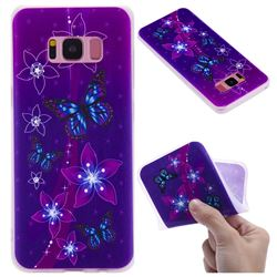 Butterfly Flowers 3D Relief Matte Soft TPU Back Cover for Samsung Galaxy S8