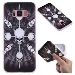 Compass Skulls 3D Relief Matte Soft TPU Back Cover for Samsung Galaxy S8