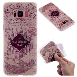 Castle The Marauders Map 3D Relief Matte Soft TPU Back Cover for Samsung Galaxy S8