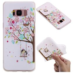 Tree and Girl 3D Relief Matte Soft TPU Back Cover for Samsung Galaxy S8
