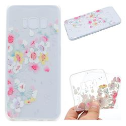 Peach Super Clear Soft TPU Back Cover for Samsung Galaxy S8