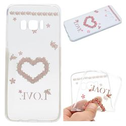 Heart Garland Super Clear Soft TPU Back Cover for Samsung Galaxy S8