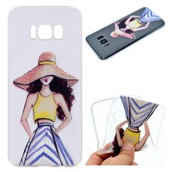 Summer Girl Super Clear Soft TPU Back Cover for Samsung Galaxy S8