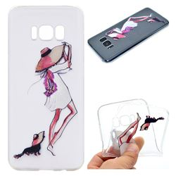 Pet Girl Super Clear Soft TPU Back Cover for Samsung Galaxy S8