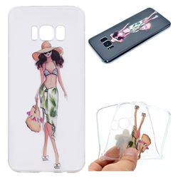 Bikini Girl Super Clear Soft TPU Back Cover for Samsung Galaxy S8