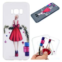 Christmas Girl Super Clear Soft TPU Back Cover for Samsung Galaxy S8