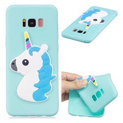 Blue Hair Unicorn Soft 3D Silicone Case for Samsung Galaxy S8