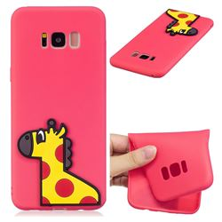 Yellow Giraffe Soft 3D Silicone Case for Samsung Galaxy S8