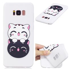 Couple Cats Soft 3D Silicone Case for Samsung Galaxy S8