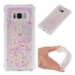 Dynamic Liquid Glitter Sand Quicksand Star TPU Case for Samsung Galaxy S8 - Rose