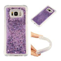 Dynamic Liquid Glitter Sand Quicksand Star TPU Case for Samsung Galaxy S8 - Purple