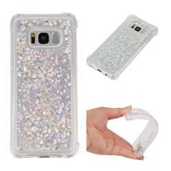 Dynamic Liquid Glitter Sand Quicksand Star TPU Case for Samsung Galaxy S8 - Silver