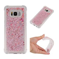 Dynamic Liquid Glitter Sand Quicksand Star TPU Case for Samsung Galaxy S8 - Diamond Rose