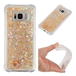 Dynamic Liquid Glitter Sand Quicksand Star TPU Case for Samsung Galaxy S8 - Diamond Gold