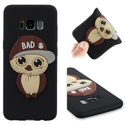 Bad Boy Owl Soft 3D Silicone Case for Samsung Galaxy S8 - Black
