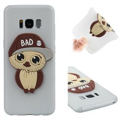 Bad Boy Owl Soft 3D Silicone Case for Samsung Galaxy S8 - Translucent White