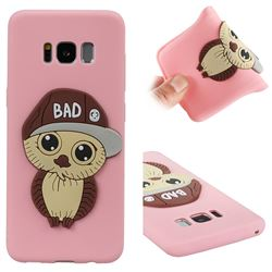 Bad Boy Owl Soft 3D Silicone Case for Samsung Galaxy S8 - Pink