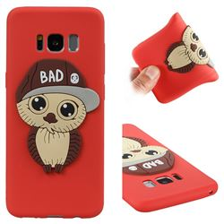 Bad Boy Owl Soft 3D Silicone Case for Samsung Galaxy S8 - Red